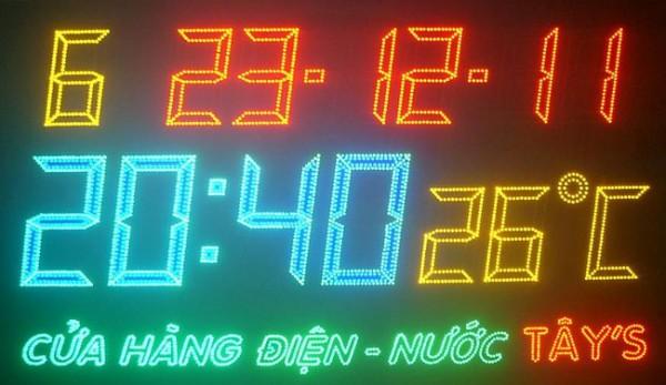 Bảng led đồng hồ