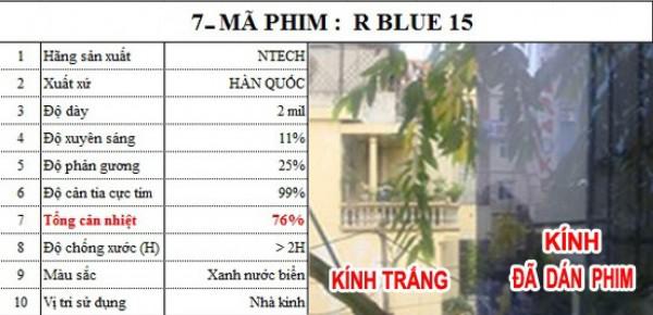 Decal Cách Nhiệt R BLUE 15